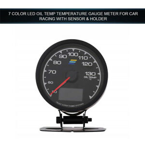 2 5 7 Colors Oil Temp Gauge Led Digital Voltage Meter Car Instrument