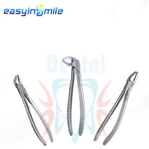 3pcs 1kit Easyinsmile Dental Tooth Extraction Forceps Premolars Surgical Removal