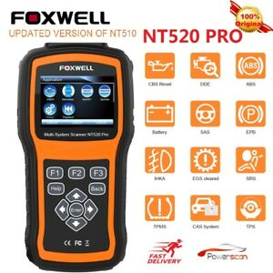 Foxwell Nt520 Pro For Benz Diagnostic Scanner Tool Airbag Abs Engine Reset Nt510