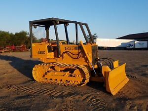 1986 Case 450c Bulldozer 6 Way Diesel Crawler Tractor Construction Farm Machine