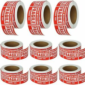 8 Roll Handle With Care Thank You Fragile Stickers 3x5 Shipping Labels 500 roll