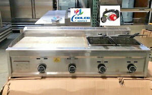 New 53 Outdoor Griddle Fryer Counter Top Taco Grill Burger Fries Propane Use
