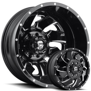 Fuel Clevers 20x8 25 Dually Wheels Ford Chevy Dodge Direct Bolt 8 Lug