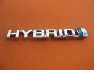 07 08 09 Toyota Prius Hybrid Right Fender Chrome Emblem Logo Badge Sign Oem 2