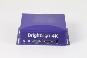 Brightsign 4k1142 ww Interactive And Live Hdtv Digital Signage Media Player