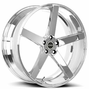 20 Inch Strada Perfetto Chrome Wheels Rims Tires Fit 5x114 3 Accord Mustang