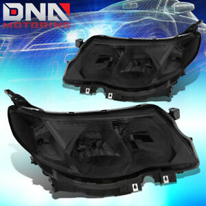 For 2009 2013 Subaru Forester Pair Oe Smoked Housing Clear Side Headlight lamps