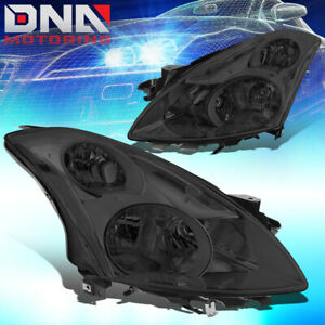 For 2010 2012 Nissan Altima Sedan Oe Smoked Housing Clear Side Headlight Lamps
