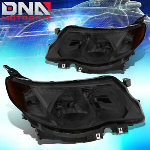 For 2009 2013 Subaru Forester Pair Oe Smoked Housing Amber Side Headlight lamps