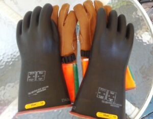 Kunz Lineman Rubber Insulating And Protective Gloves Size 10 1 2