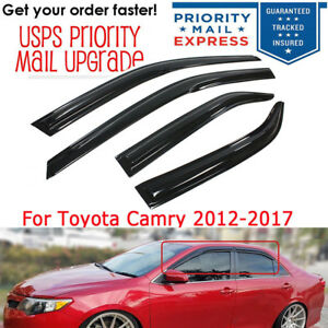 For 2012 2017 15 Toyota Camry 3d Wavy Style Door Window Visor Vent Rain Guard