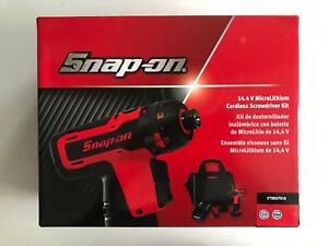 New Snap On 1 4 14 4v Red Microlithium Cordless Screwdriver Kit Ctseu761a