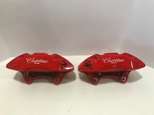 Cadillac Right Left Front Caliper Red Brembo Oem 20b423bc 20b423ac