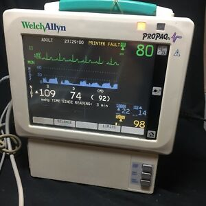 Welch Allyn Propaq Cs 244 Nibp Nellcor Spo2 Ecg Ibp Mainstream Co2 Tested