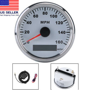 Universal 85mm Gps Speedometer Waterproof 160mph For Car Truck Motorcycle