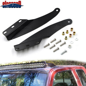 For Chevy Truck 1989 1998 Upper Windshield Roof 52 Inch Curved Light Bar Bracket