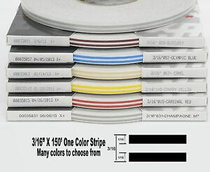 316 3 16 X 150 Roll Of Thin Accent Pinstripe Stripe In Many Colors