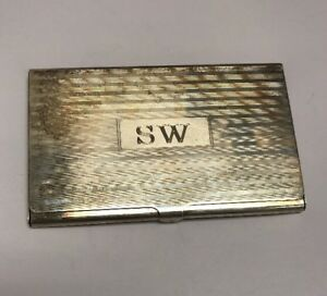 Tiffany Co Business Card Case Holder Sterling Silver 925 Vintage 55 5 Gram