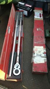 Used Wright Tool Model 8447 Adjustable Torque Wrench 1 Drive 200 1000 Lbs