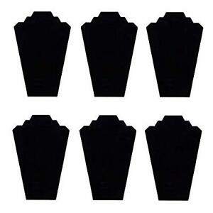 Black Velvet Necklace Jewelry Display Organizer Bracelet Necklaces Stand 6 Pack