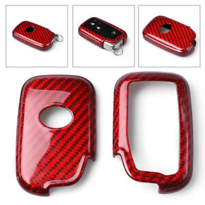 Auto Remote Key Cover Case Red Carbon Fiber For Lexus Rx450 350 Lx570 Gs460 New