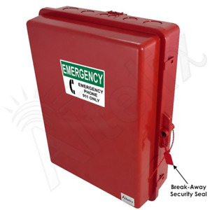 Altelix Weatherproof Emergency Phone Call Box Red Polycarbonate Nema 3x Ip55