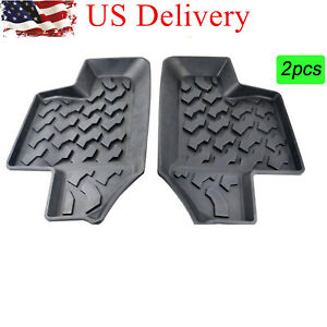 2007 2017 Jeep Wrangler Jk 2 door 3d Slush Rubber Rear Row Floor Mats