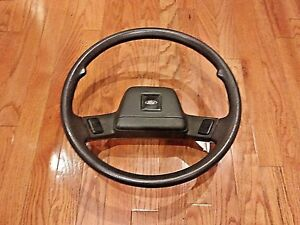 Ford Festiva Steering Wheel With Center Horn Buttons Gray 88 93