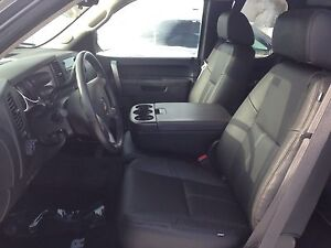 Katzkin Ebony Leather Seat Covers 2010 2011 2012 2013 Gmc Sierra Crew Cab