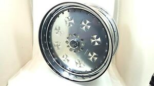 4 Pc 22 X 10 Chevy Silverrado 1500 Silver Iron Cross Wheel