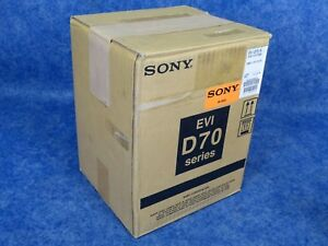 Sony Evi d70 w 1 4 inch Ccd Pan tilt Zoom Color Ntsc Video Camera White B stock