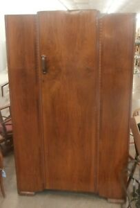 Antique Mahogany One Door Wardrobe With Key
