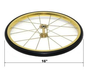 Great Northern Replacement Wheel Gold 16 For Popcorn Machine Cart