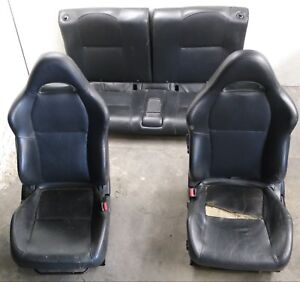 02 06 Acura Rsx Type s Oem Front Bucket And Rear Black Leather Manual Seats