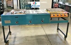 New 80 Griddle Broiler Combo Cart Comal Asada Burger Pollo Hot Dog Taco Propane