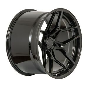 20 Rohana Rfx11 20x10 20x11 Gloss Black Forged Concave Wheels Ford Mustang Gt