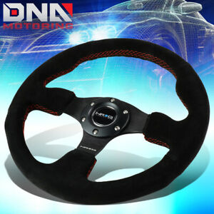 Nrg Reinforced Rst 012s rs 320mm Type r Black Suede Red Stitch Steering Wheel