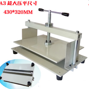 Manual A3 Size Paper Press Machine Flat Paper For Money Receipt Paper Album New