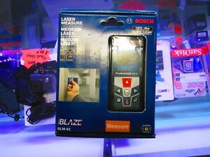 new Bosch Blaze Laser Measure Color Display glm42