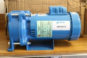 Goulds Pumps 1 1 2 Hp Tefc Two stage Cast Iron Booster Water Pump 115v 230v Ac