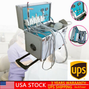 Dental lab Portable Delivery Unit Rolling Case slow Suction ultrasonic Scaler Us