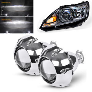 2x Bi xenon Projector Lens Shrouds High Low Beam For Left hand drive Car