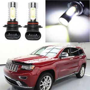 2pcs Cool White 9140 9145 H10 Cob Led Fog Lights For Jeep Grand Cherokee 99 2010