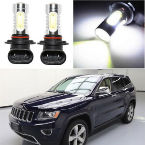 2pcs 9140 9005 White 12v Cob Led Fog Light Bulbs For Jeep Grand Cherokee 99 2010