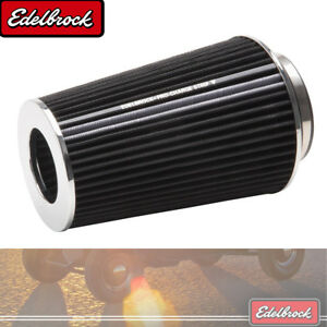 Edelbrock Pro Flo Universal Black Tall Conical Air Filter With 3 3 5 4 Inlet
