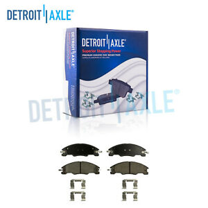 Front Ceramic Brake Pads W Hardware For 2008 2009 2010 2011 Ford Focus