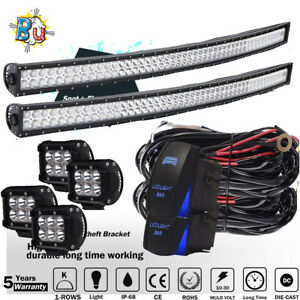 2x Roof Mount Fit For Toyota Tacoma 2005 2015 For 50inch Curved Led Light Bar