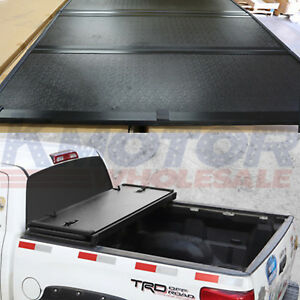 Lock Hard Solid Tri Fold Tonneau Cover 5 5 Ft Truck Bed For Ford F 150 2004 2018