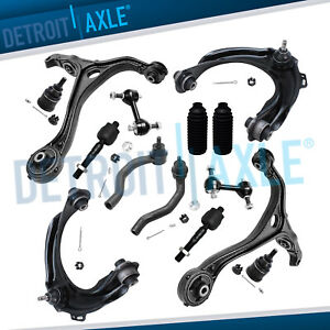 14pc Front Upper Lower Control Arm Suspension Kit 2003 2004 2005 Accord 3 0l