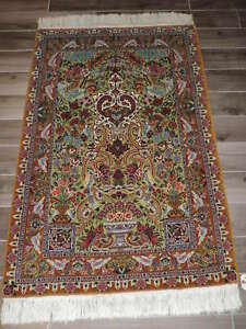 3 4x5 5ft Handmade Persian Kashan Wool Prayer Rug